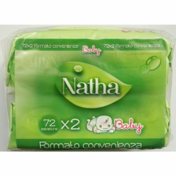 NATHA BABY 72 SALVIETTE x 2...